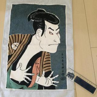 洒落のタオルと歌舞伎座の動く定規(伝統芸能)