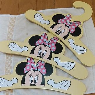 ディズニー(Disney)の【3本セット】ミニーマウス木製ハンガー(押し入れ収納/ハンガー)