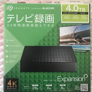 エクスパンション(EXPANSION)の新品 Seagate SGD-JMX040UBK 外付けHDD 4TB ①(PC周辺機器)