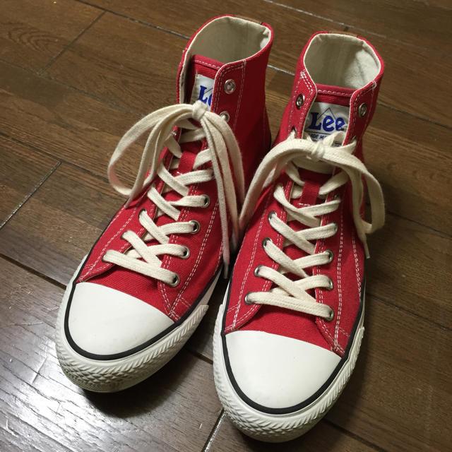 Lee(リー)のLee赤スニーカー レディースの靴/シューズ(スニーカー)