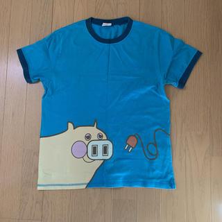 ドラッグストアーズ(drug store's)のdrag stores 水色 Tシャツ ブタ(Tシャツ/カットソー)
