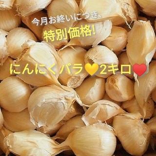京都産🍀無農薬にんにくバラ♡ありがとう🍀♥お醤油漬けにも💛🌠(野菜)