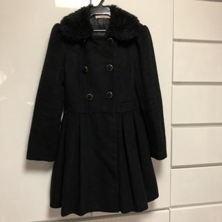 ダズリン(dazzlin)のダズリン dazzlin 黒 ブラック コート ファー スカート型 上着 姫(ロングコート)