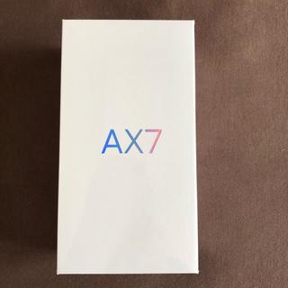 アンドロイド(ANDROID)のoppo AX7 ゴールド simフリー 未使用 未開封(スマートフォン本体)
