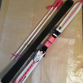 スキー板 子供用 110センチ ストック81センチ 中古(板)