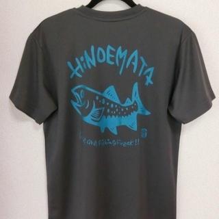 イワナTシャツ(ガンメタル)ドライ素材(Tシャツ/カットソー(半袖/袖なし))