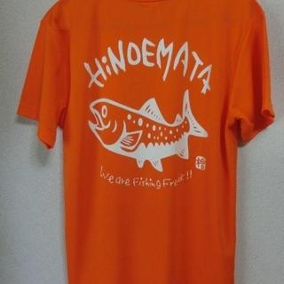 イワナTシャツ(オレンジ)ドライ素材(Tシャツ/カットソー(半袖/袖なし))