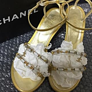 シャネル(CHANEL)のCHANEL■ロゴサンダル■パンプス■靴(サンダル)