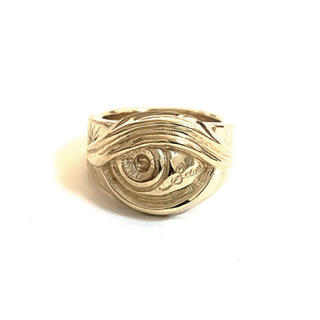 EYE PINKIE RING 18k gold plated(リング(指輪))