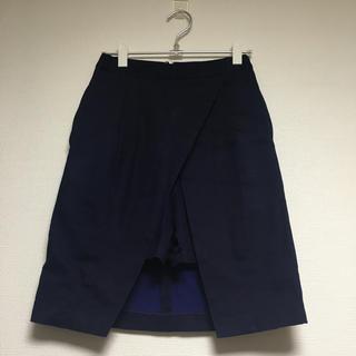 アグノスト(AGNOST)のAGNOST ショートパンツ付きスカート(ひざ丈スカート)