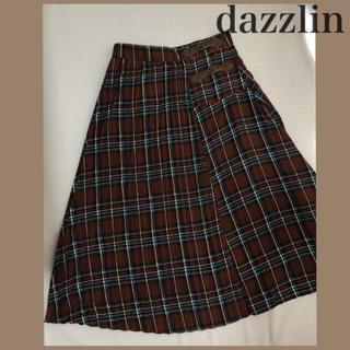 ダズリン(dazzlin)の【美品】チェックプリーツスカート♡(ロングスカート)