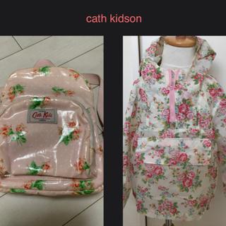 キャスキッドソン(Cath Kidston)のキャスキッドソン パーカー レインコート アウター 3〜4才 記名あり(コート)