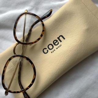 コーエン(coen)の値下げ!!coen 伊達メガネ(サングラス/メガネ)