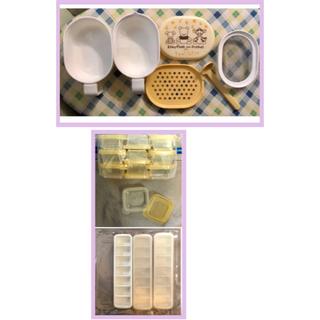 離乳食調理セット&ミニミニタッパー(箱無し、お値下げ可能)