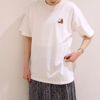 サマンサモスモス(SM2)のメランクルージュ*ミッフィーコラボなかよし刺繍半袖Tee(Tシャツ/カットソー(半袖/袖なし))
