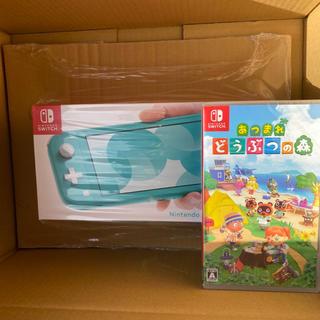 ニンテンドースイッチ(Nintendo Switch)のSwitch Lite ターコイズ & どうぶつの森ソフト(家庭用ゲーム機本体)