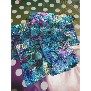 珊瑚柄メッシュ巾着袋8枚 ブルー(雑貨)