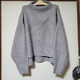ワイドニット / ハイネック / グレー 灰色(ニット/セーター)