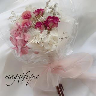 ピンク系 ドライフラワー 花束 ブーケ スワッグ(ドライフラワー)