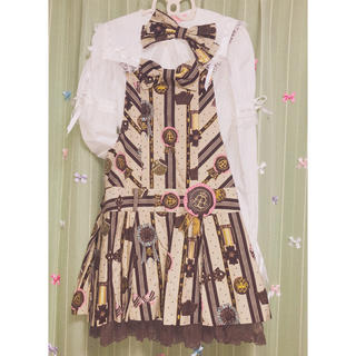アンジェリックプリティー(Angelic Pretty)のチョコレートロゼッタ セット 最終値下げ(ひざ丈スカート)
