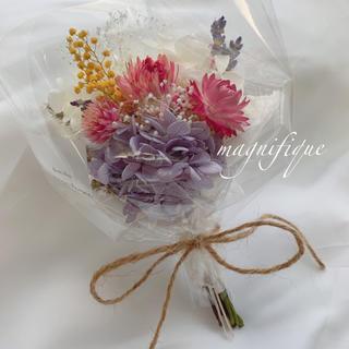 ミモザ mix ドライフラワー 花束 ブーケ スワッグ(ドライフラワー)