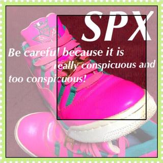 エスピーエックス(SPX)の❇️【SPX】ピンクが通でそこをどけ☆‼️超希少激レア限定モデル‼️(スニーカー)
