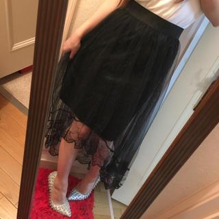 スピーガ(SPIGA)の黒チュールロングスカート(ロングスカート)