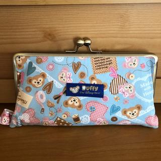 ディズニー(Disney)のダッフィー  ハンドメイド 親子がま口長財布(財布)
