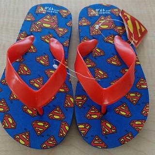17㎝ 新品 スーパーマン ビーチサンダル キャラクター ビーサン キッズ靴(サンダル)