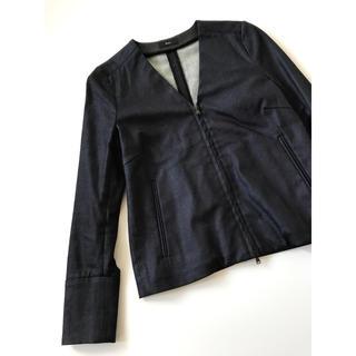 エディション(Edition)のトゥモローランド エディション ノーカラージャケット デニム Vネック 春服(ノーカラージャケット)
