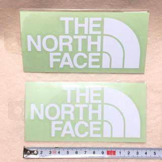 ザノースフェイス(THE NORTH FACE)のノースフェイス ロゴ カッティング ステッカー ホワイト 国内正規品 2枚組(その他)