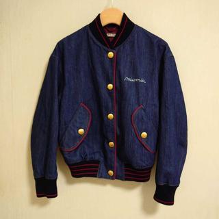 ミュウミュウ(miumiu)のmiu miu 18リゾート ロゴ刺繍 デニム ボンバージャケット(Gジャン/デニムジャケット)