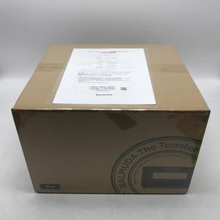 バルミューダ(BALMUDA)のC5/保証あり!新品 バルミューダ スチームトースター K01E-GW グレー(調理機器)