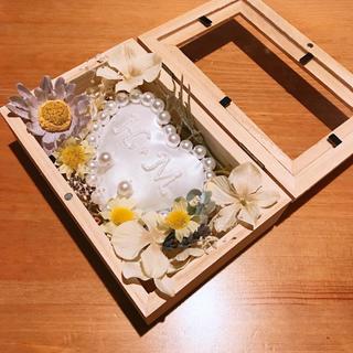【週末限定割】リングピロー 白 花(リングピロー)