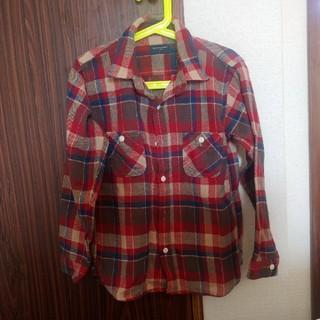 バックナンバー(BACK NUMBER)のチェックシャツ130cm(Tシャツ/カットソー)