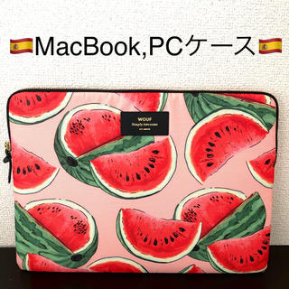 UNITED ARROWS - WOUF MacBook sleeve PCケース 13inch スイカ柄