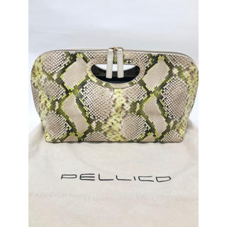 ペリーコ(PELLICO)のPELLCO パイソン×エナメルバッグ(ハンドバッグ)