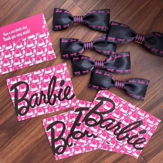 バービー(Barbie)のバービーリボン5個+バービー小袋5枚セット(各種パーツ)