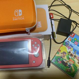 ニンテンドースイッチ(Nintendo Switch)のニンテンドースイッチ ライト コーラルピンク(携帯用ゲーム機本体)