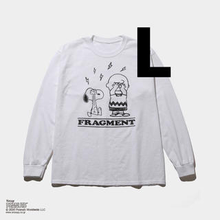 フラグメント(FRAGMENT)のFRAGMENT PEANUTS LONG SLEEVE TEE L 黒(Tシャツ/カットソー(七分/長袖))