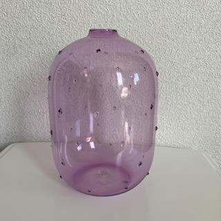 ザラホーム(ZARA HOME)のザラホーム 花瓶 フラワーベース  パープル(花瓶)