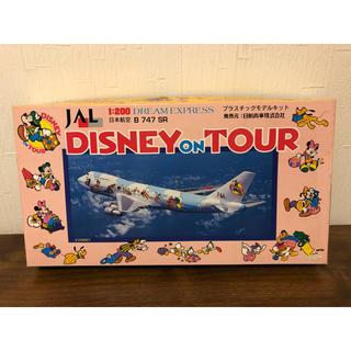 ジャル(ニホンコウクウ)(JAL(日本航空))のB747 SR JAL  ディズニー 飛行機 模型 モデルプレーン アンティーク(模型/プラモデル)