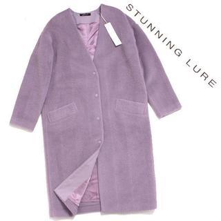 スタニングルアー(STUNNING LURE)の19AW 新品 STUNNING LURE ヘリンボーンシャギーコート(ロングコート)