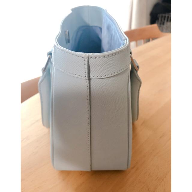 濱野皮革工藝/HAMANO(ハマノヒカクコウゲイ)の濱野 トートバッグ ライトブルー  美品!オススメ レディースのバッグ(トートバッグ)の商品写真