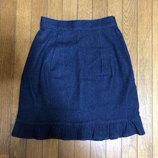 フィント(F i.n.t)の裾フリルデニムスカート(ミニスカート)