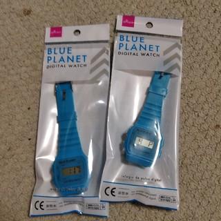 BLUE PLANET デジタル腕時計 2個セット [売切御免](腕時計(デジタル))