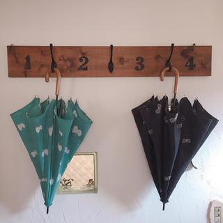 ミナペルホネン(mina perhonen)のミナペルホネンchouchoチャコール日傘 右側(傘)