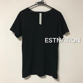 エストネーション(ESTNATION)の◆ESTNATION◆VネックTシャツ 黒(Tシャツ/カットソー(半袖/袖なし))