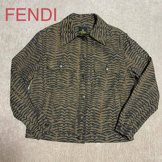 フェンディ(FENDI)の【美品】FENDI ゼブラ柄ジャケット 42(Gジャン/デニムジャケット)