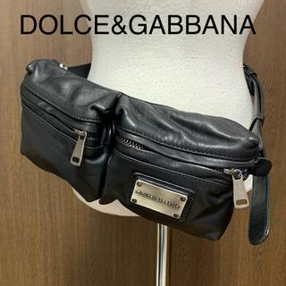 ドルチェアンドガッバーナ(DOLCE&GABBANA)の【美品】DOLCE&GABBANA レザーウエストポーチ(ボディバッグ/ウエストポーチ)